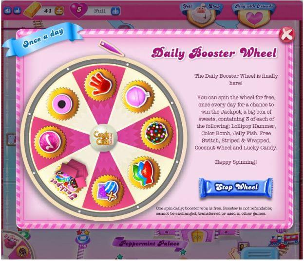 candy crush wheel